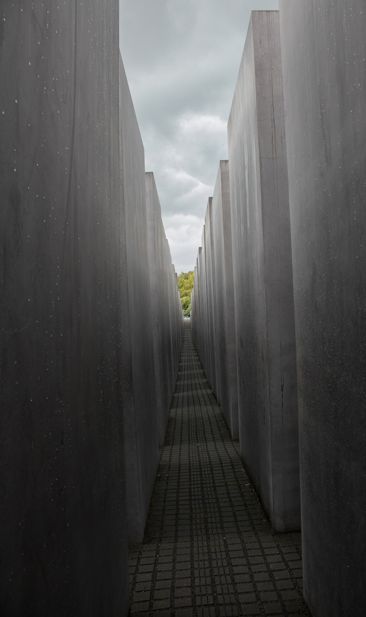Empty Roads. Memorial to the Murdered Jews of Europe, Berlin, Germany.