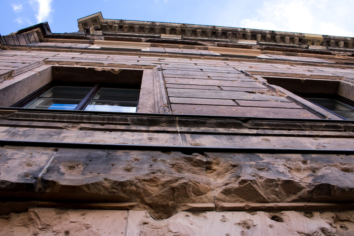 Shelled Building. Berlin, Germany.