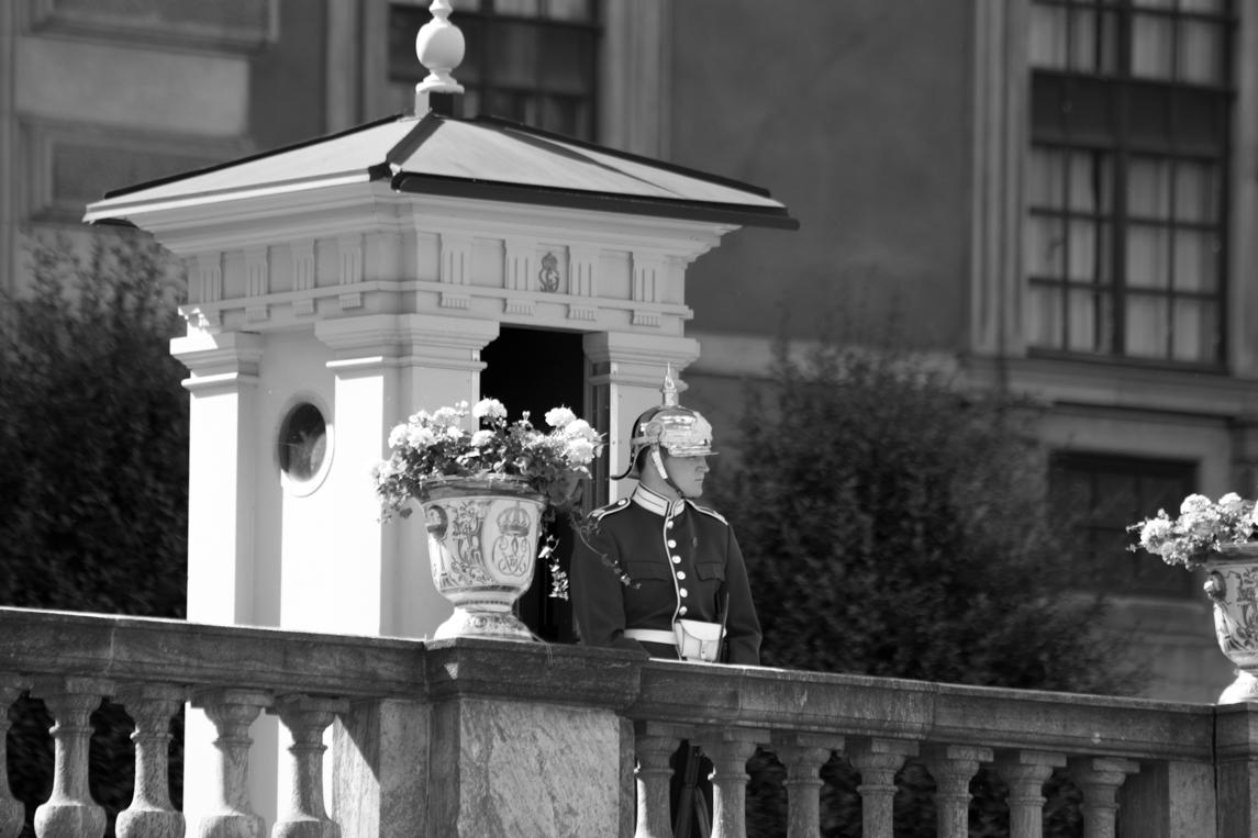 On Guard. Stockholm Palace, Stockholm, Sweden.