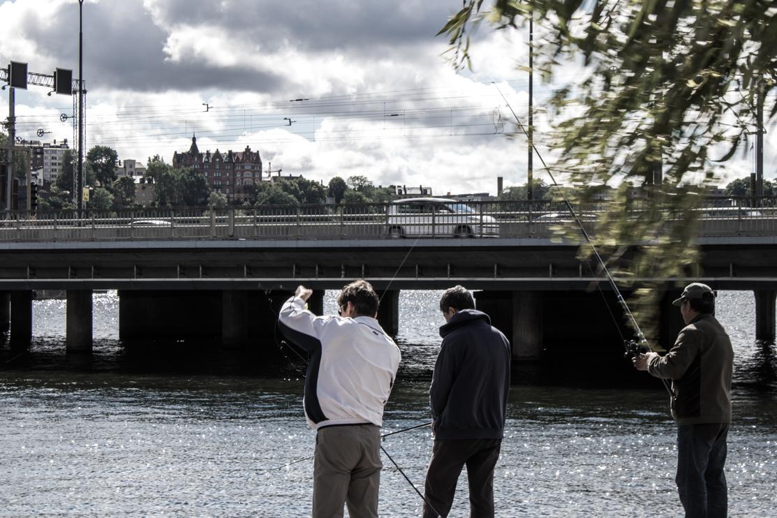 Urban Fishermen. Stockholm, Sweden.